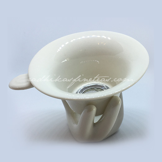 Porcelain Strainer, Style, Hand-Holder set