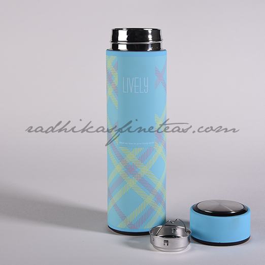 Infuser Flask, Style, Blue Checks