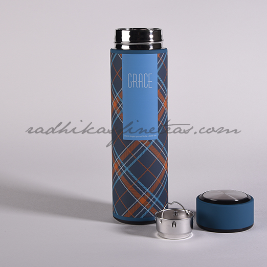 Infuser Flask, Style, Black Checks