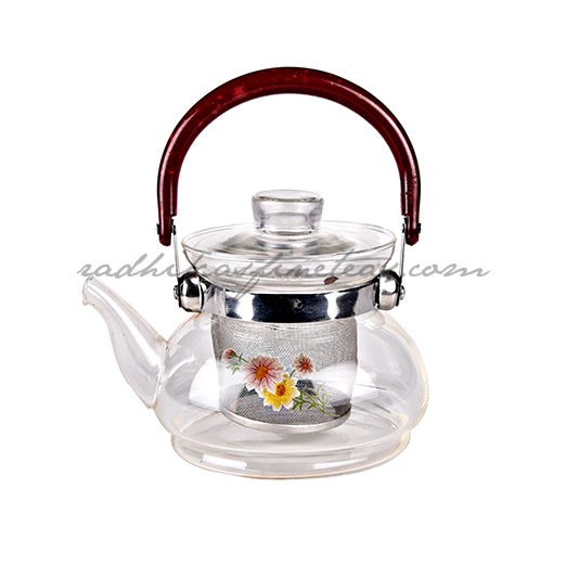 Glass Kettle, Style, Red handle