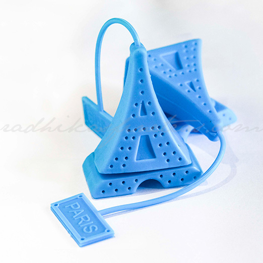 Silicon infuser, Style, Eiffel Tower in Blue