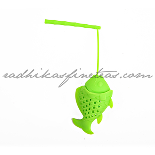 Silicon Infuser, Style, Fishy Fish in Green