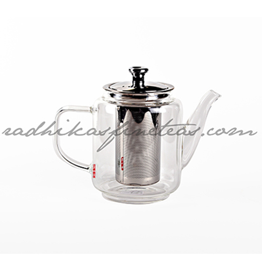 Glass Kettle, Style, Tall with Steel Infuser