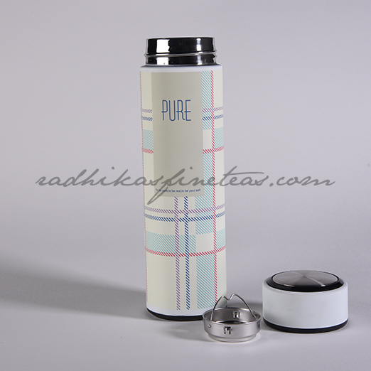 Infuser Flask, Style, Grey Checks