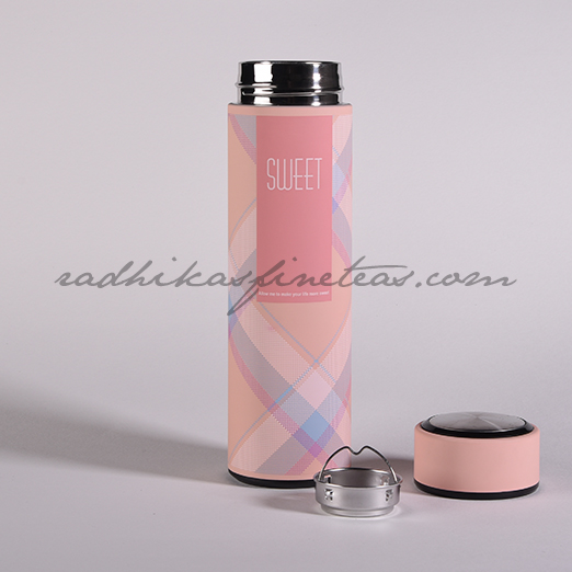 Infuser Flask, Style, Pink Checks