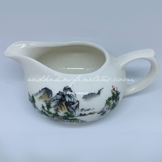 Serving Kettle, Oriental Nature Print