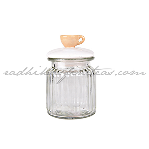 Storage Jar Small, Style, Chai Cup Lid