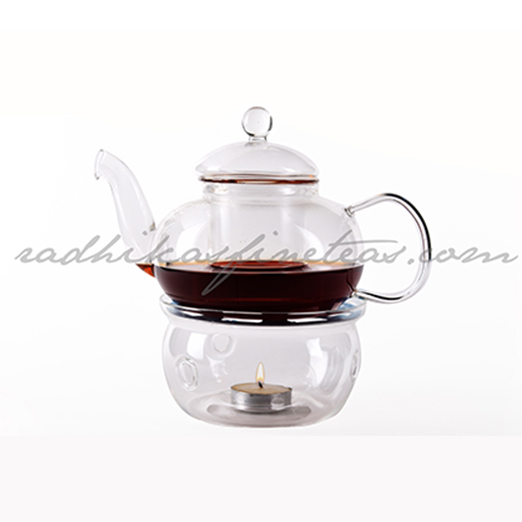 Glass Kettle Tea-Lite Set