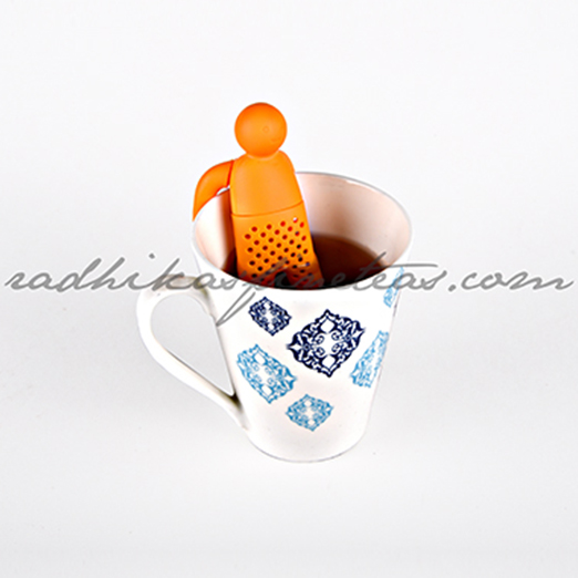 Silicon Infuser, Style, Mr TeaMan in Orange