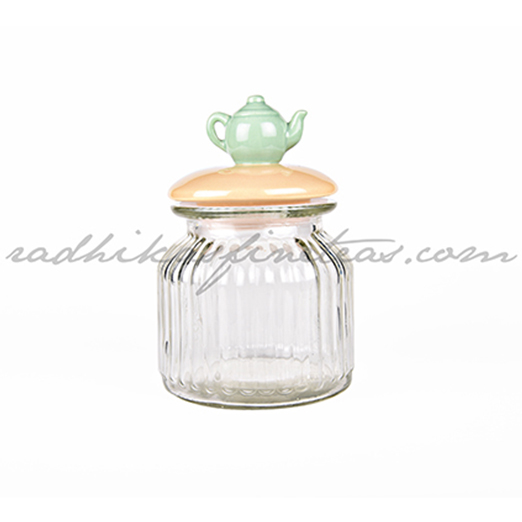 Storage Jar Big, Style, Kettle Shaped Lid
